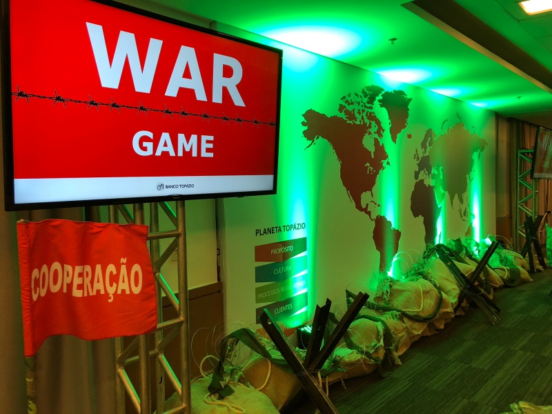 Banco Topázio realiza o WAR GAME